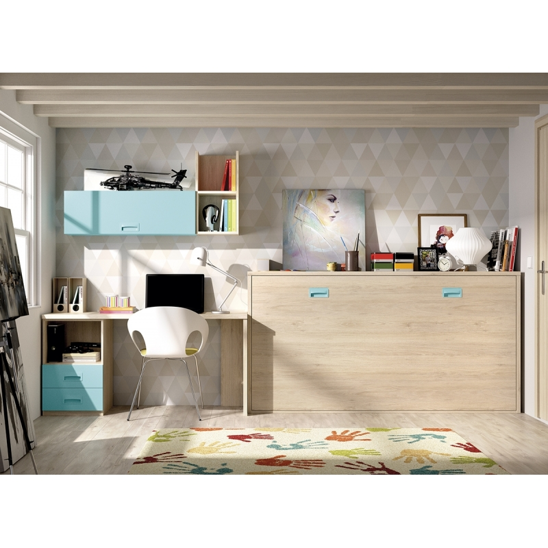 Dormitorio juveniles camas abatibles 99c 45 for Dormitorios juveniles abatibles