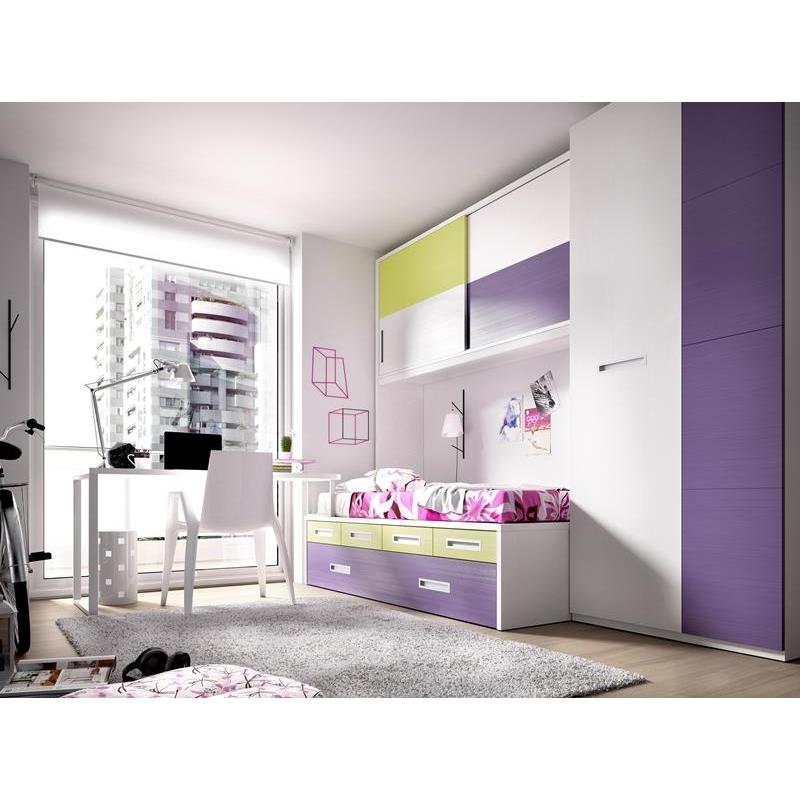 Dormitorio juvenil compactos sevilla 99 h 122 - Muebles compactos juveniles ...